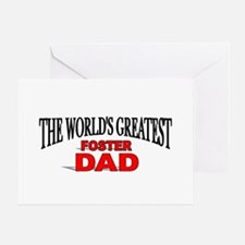 """The World's Greatest Foster Dad"" Greeting Cards"