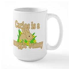 Carlos is a Snuggle Bunny Large Mug