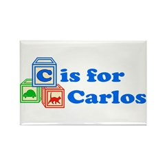 Baby Blocks Carlos Rectangle Magnet (10 pack)