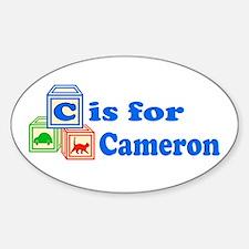 Baby Blocks Cameron Sticker (Oval)