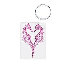 Seahorses heart Keychains