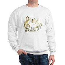 Golden Musical Notes Oval Sweatshirt