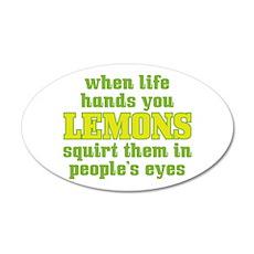 Rude Lemons 22x14 Oval Wall Peel