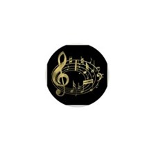 Cute Gold music Mini Button