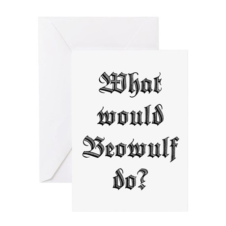 What Would Beowulf Do? Greeting Card