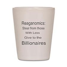 Reaganomics Anti MiddleClass Shot Glass