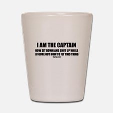 I AM THE CAPTAIN Shot Glass