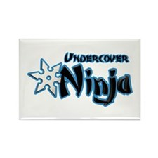 Undercover Ninja Rectangle Magnet