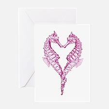 Seahorses heart Greeting Card