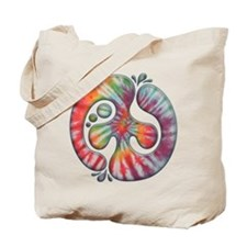 Tie-Dye Peace Spill Tote Bag