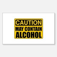 Caution May Contain Alcohol Decal