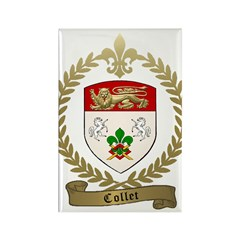 COLLET Family Crest Rectangle Magnet (100 pack)