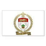 COLLET Family Crest Sticker (Rectangle 10 pk)