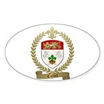 COLLET Family Crest Sticker (Oval 10 pk)