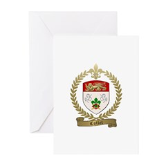 COLLET Family Crest Greeting Cards (Pk of 10)