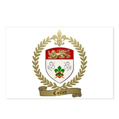 COLLET Family Crest Postcards (Package of 8)