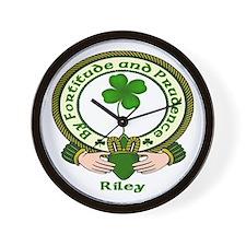 Riley Clan Motto Wall Clock