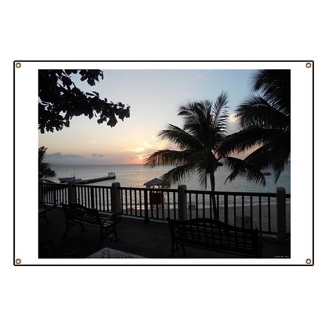Sunset Doctor's Cave Beach Banner