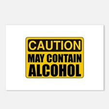 Caution May Contain Alcohol Postcards (Package of