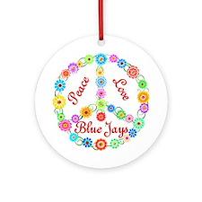 Peace Love Blue Jays Ornament (Round)