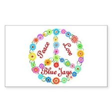 Peace Love Blue Jays Decal
