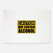 Caution May Contain Alcohol 5'x7'Area Rug