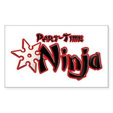 Part-Time Ninja Decal
