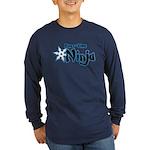 Part-Time Ninja Long Sleeve Dark T-Shirt