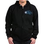 Part-Time Ninja Zip Hoodie (dark)