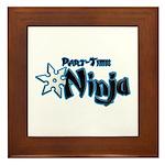 Part-Time Ninja Framed Tile