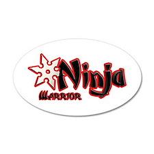 Ninja Warrior 38.5 x 24.5 Oval Wall Peel