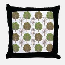Argyle Tree Throw Pillow