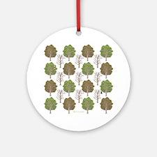 Argyle Tree Ornament (Round)