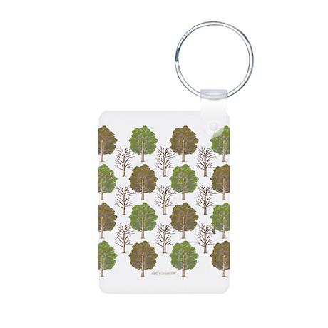 Argyle Tree Aluminum Photo Keychain