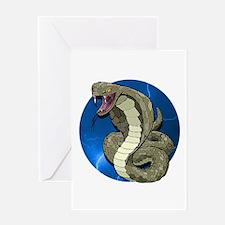 Cobra Lightning Greeting Card