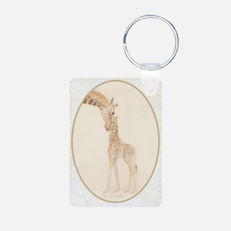 mom & baby giraffe Keychains