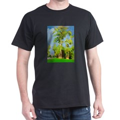Big Tree in The Park Black T-Shirt
