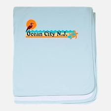 Wrightsville Beach NC - Map baby blanket