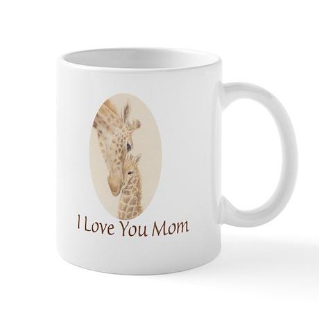 mom & baby giraffe Mug