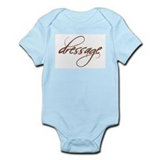 dressage (brown text)  Infant Creeper