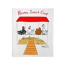 Home Sweet Coop Throw Blanket