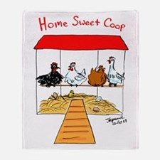 Home Sweet Coop Throw Blanket