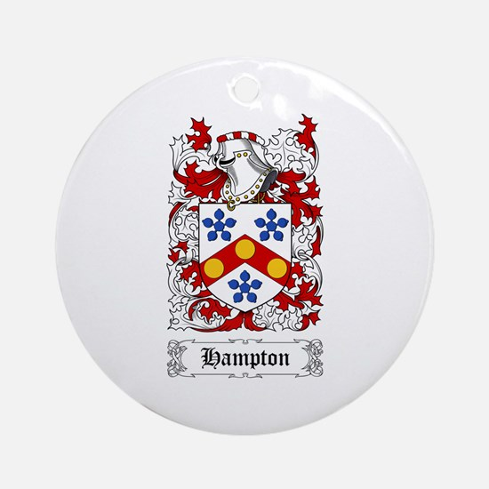 Hampton Ornament (Round)