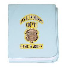 San Louis Obispo Warden baby blanket