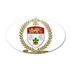 COLLETTE Family Crest 22x14 Oval Wall Peel