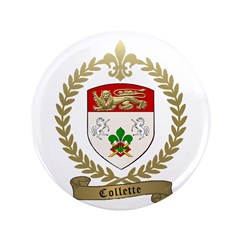 """COLLETTE Family Crest 3.5"""" Button (100 pack)"""