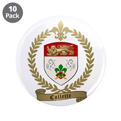 "COLLETTE Family Crest 3.5"" Button (10 pack)"