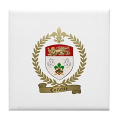 COLLETTE Family Crest Tile Coaster