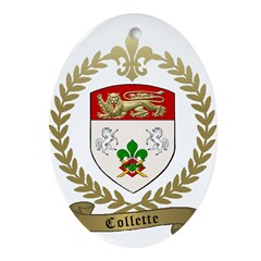 COLLETTE Family Crest Ornament (Oval)