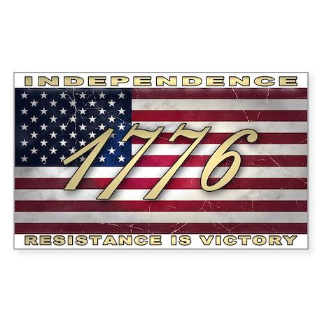 American Flag (1776) Sticker (Rectangle)